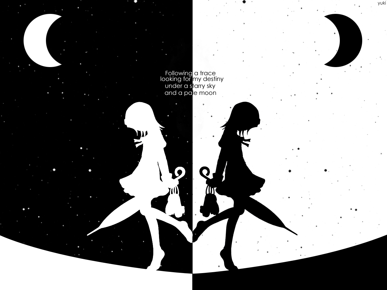 Black And White Anime 6 Cool Hd Wallpaper