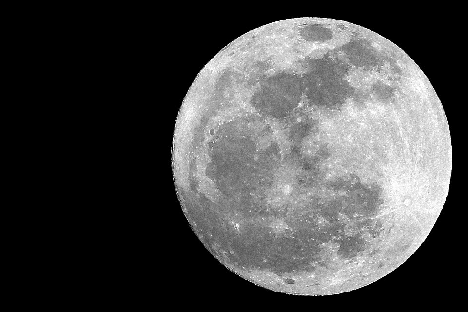 Black And White Moon  10 High Resolution Wallpaper