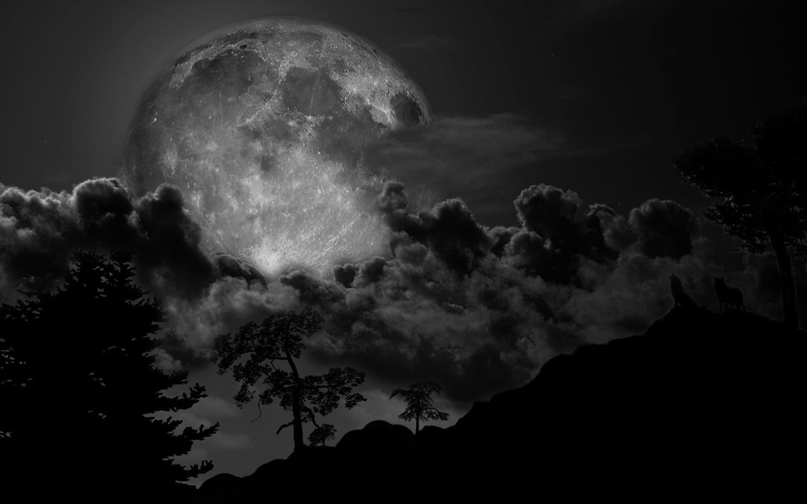 Black And White Moon 26 Wide Wallpaper - Hdblackwallpaper.com