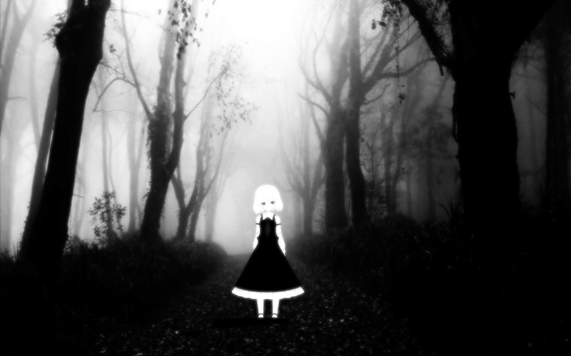 Black and white pictures anime forest 2 high resolution - Black and white anime wallpaper ...
