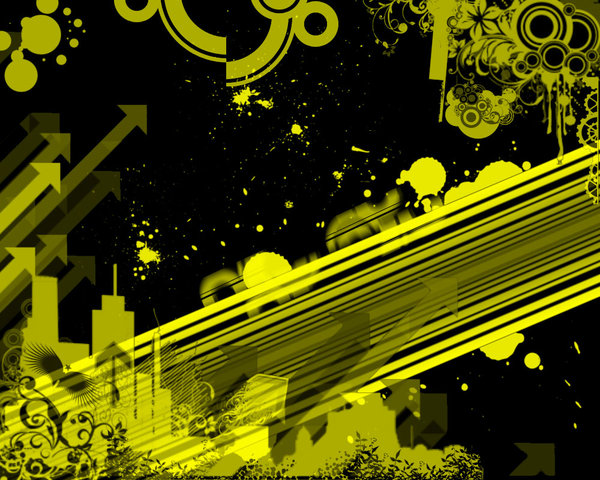 Black And Yellow Abstract Wallpaper 10 Background ...
