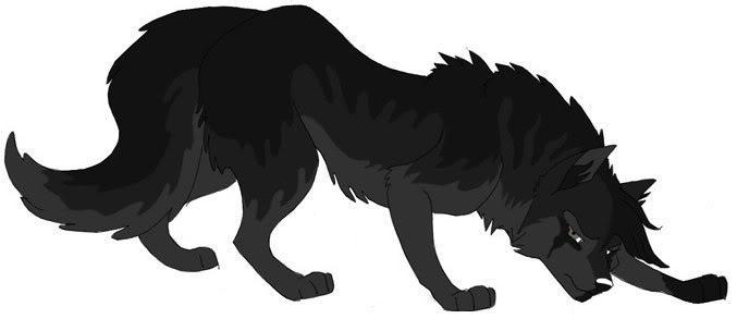 Black Anime Wolf 8 Wide Wallpaper - Hdblackwallpaper.com
