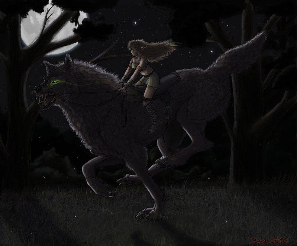 Anime Black Wolf With Red Eyes And Wings