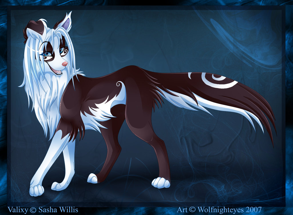 Black anime wolf 15 desktop background - Wolf girl anime pictures ...