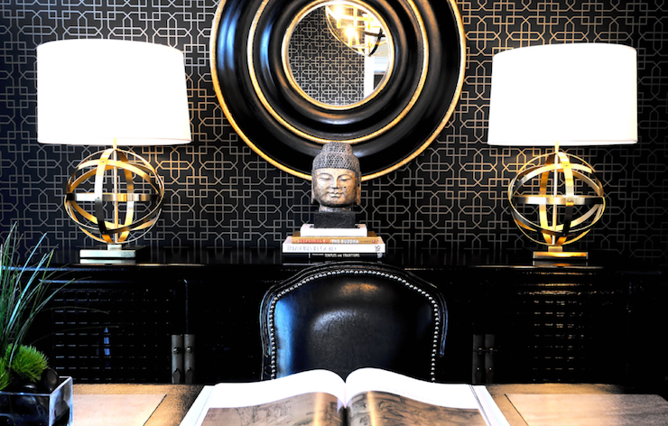 Elegant black and gold wallpaper 13 desktop wallpaper for Black gold interior design