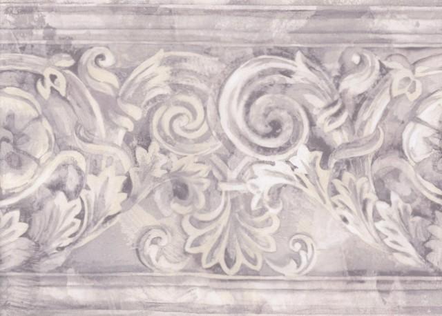 gold and black leaf scroll wallpaper border 6 free