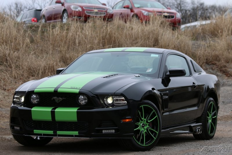 green and black mustang 2 free wallpaper - Mustang 2014 Black Wallpaper