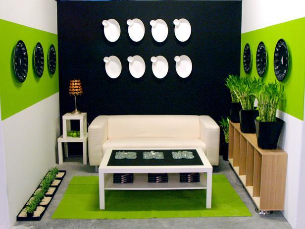 Green And Black Room  13 Desktop Background