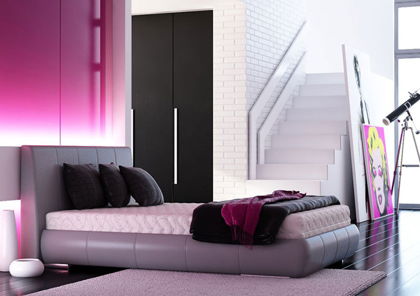 Pink and black wallpaper for bedrooms 21 background for Black bedroom wallpaper