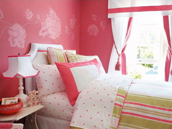 Pink and black wallpaper for bedrooms 10 background for Black and pink wallpaper for bedroom