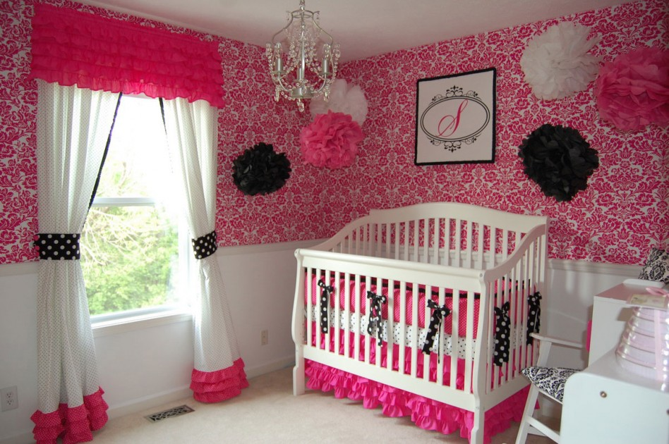 Pink and black wallpaper for bedrooms 9 high resolution for Black and pink wallpaper for bedroom