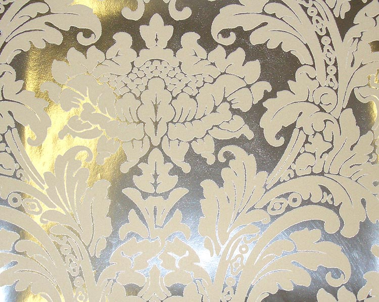 Silver and black damask wallpaper 4 widescreen wallpaper for Black white damask wallpaper mural