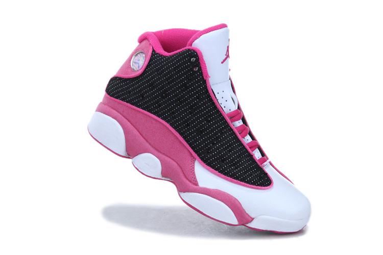Air Jordan 13 Femmes Gs Fond Blanc Rose