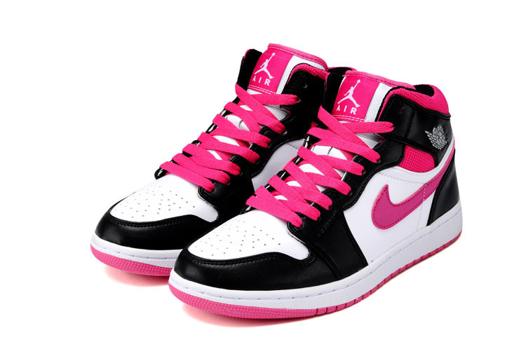 pink and black jordan shoes for girls