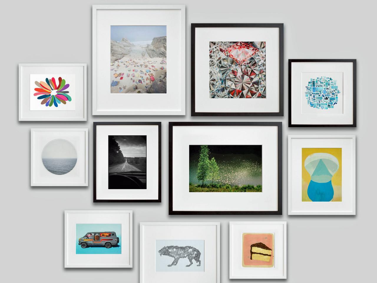 Color of art gallery walls - Black And White Color Frame 18 Desktop Background