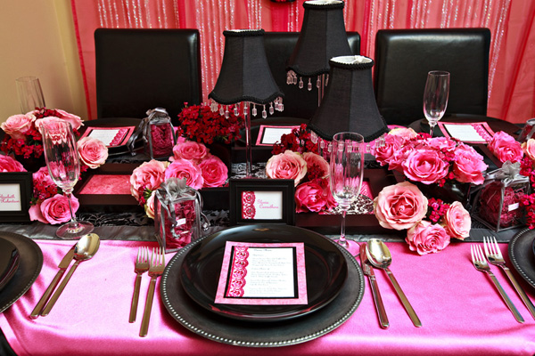 Pink And Black Decor 1 Cool Hd Wallpaper