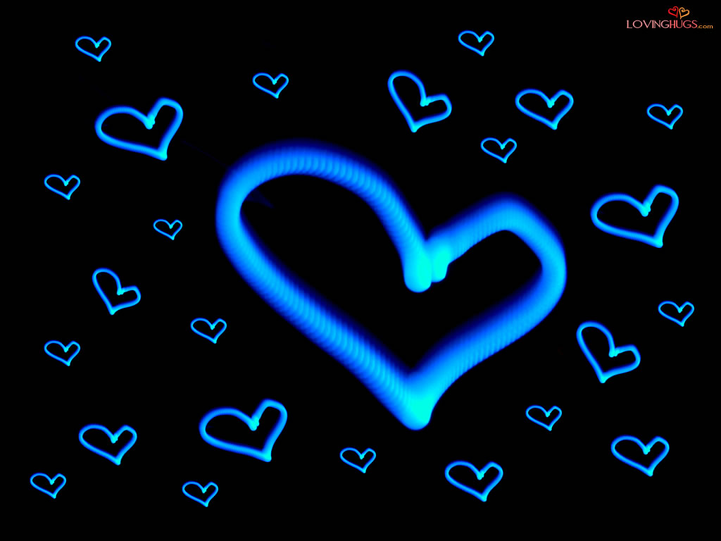 Black And Blue Colors Of Love 7 Hd Wallpaper