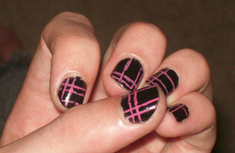 Pink And Black Nail Designs 17 High Resolution Wallpaper
