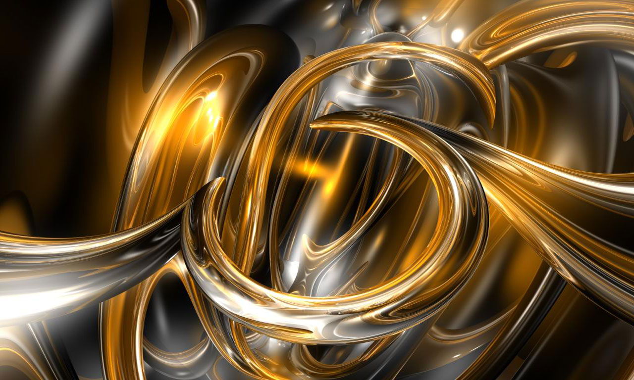 Black And Gold Abstract Wallpaper 4 Background