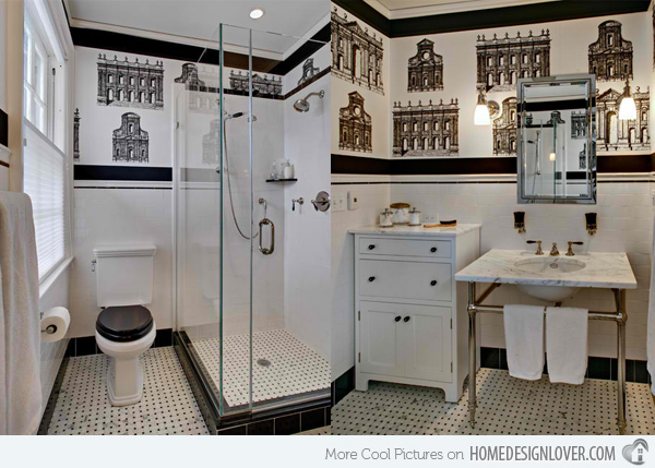 black and white wallpaper bathroom black and white wallpaper for bathroom 27 hd wallpaper 22760