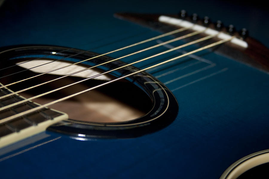 Blue And Black Acoustic Guitar 14 Hd Wallpaper ...