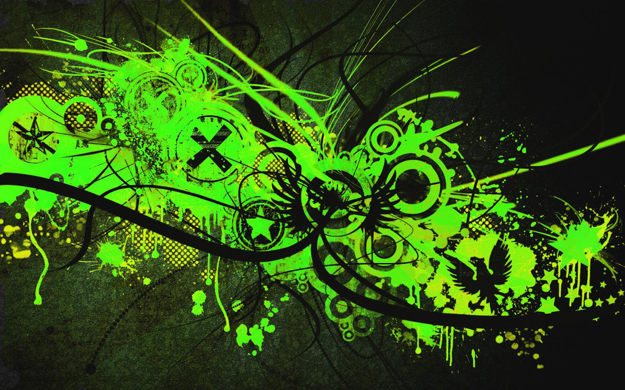 Green And Black Abstract Wallpaper 18 Background ...