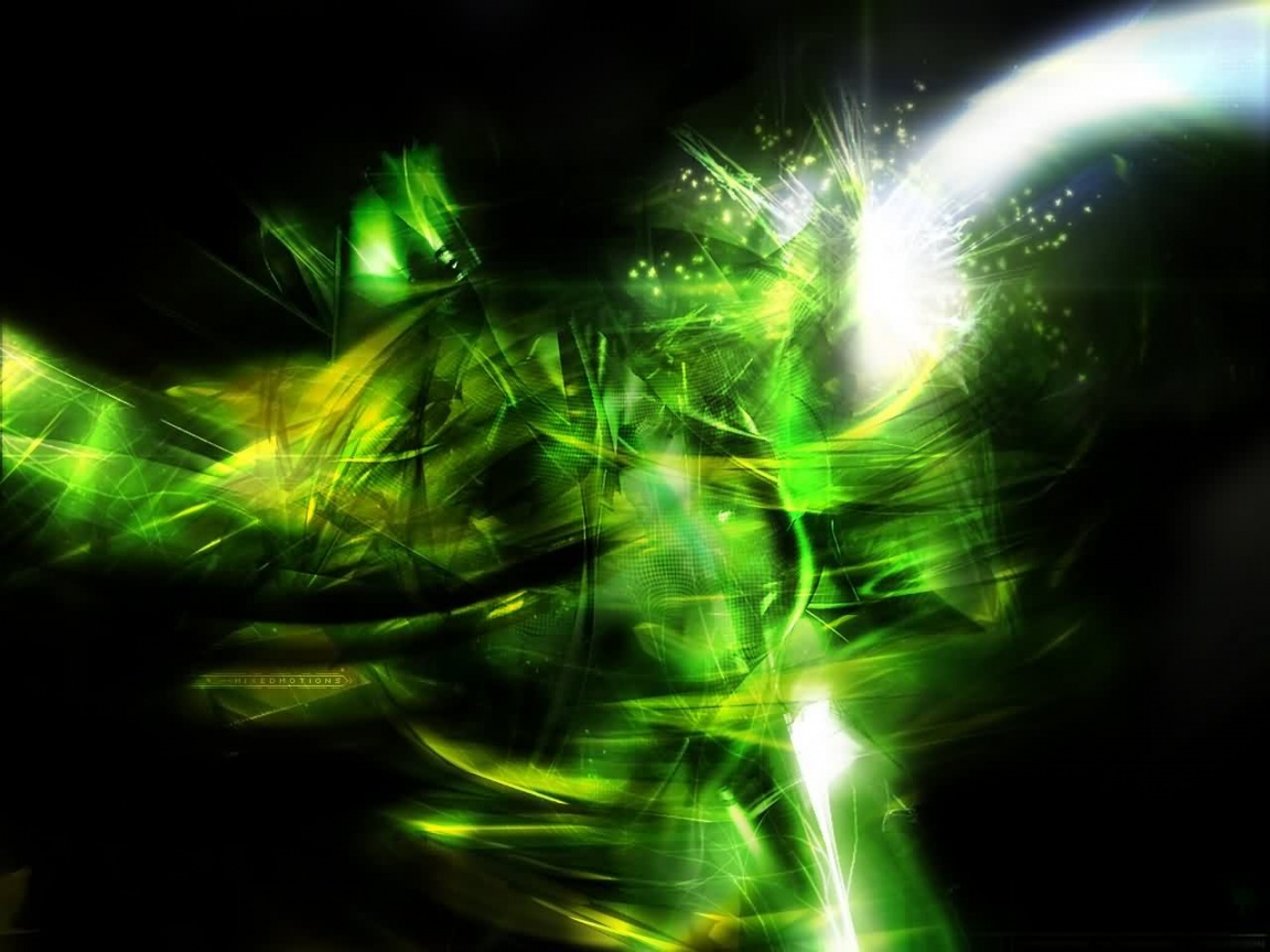 Green And Black Abstract Wallpaper 26 Cool Wallpaper