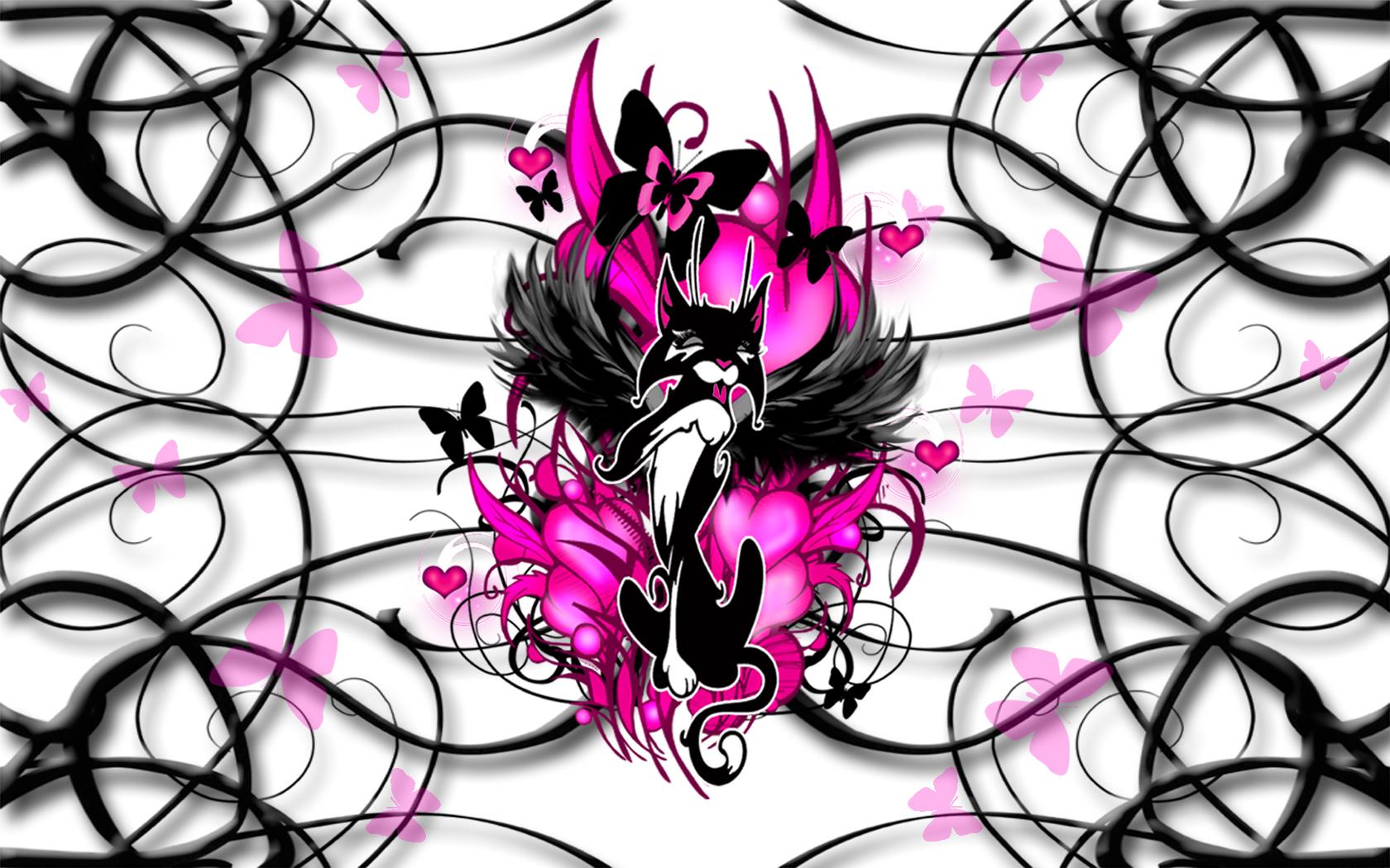 Pink And Black Wallpaper Designs 18 Widescreen Wallpaper ... |Black And Pink Wallpaper Design
