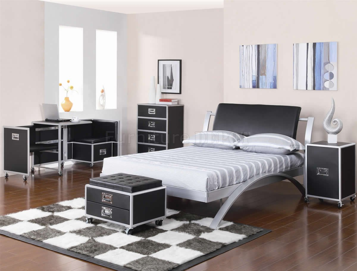 Black And Silver Bedroom Set 7 Free Wallpaper ...
