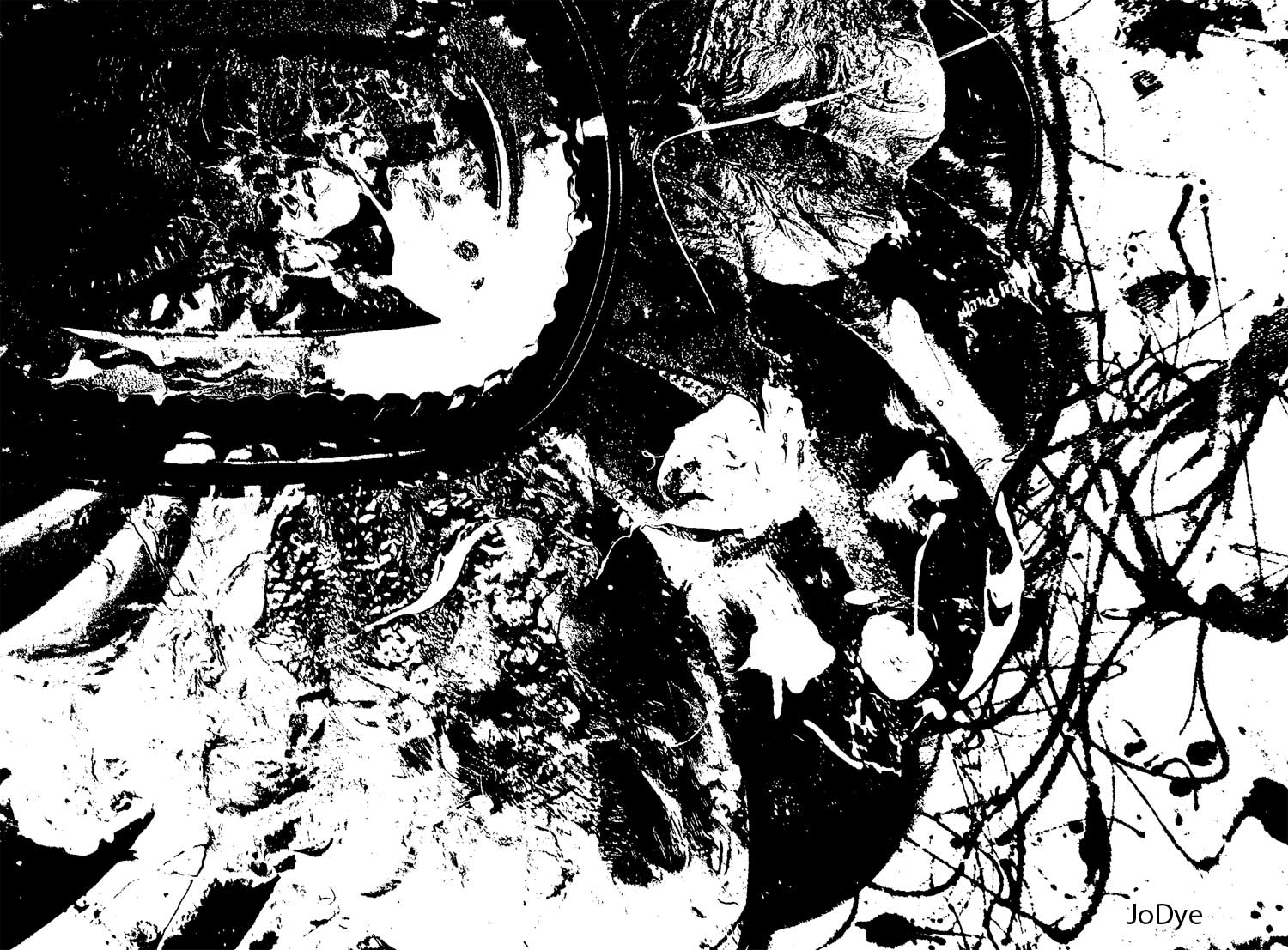 Black And White Abstract Art 6 Desktop Background