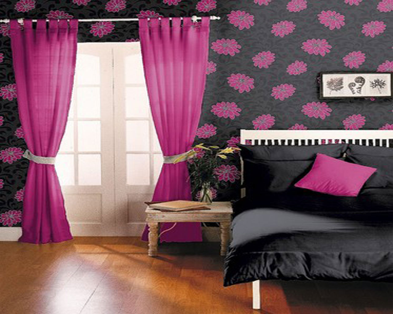 black and pink bedroom wallpaper pink and black bedrooms 25 desktop wallpaper 18325