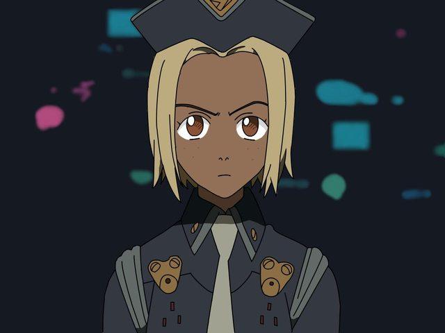 Black Anime Character 2 Desktop Background