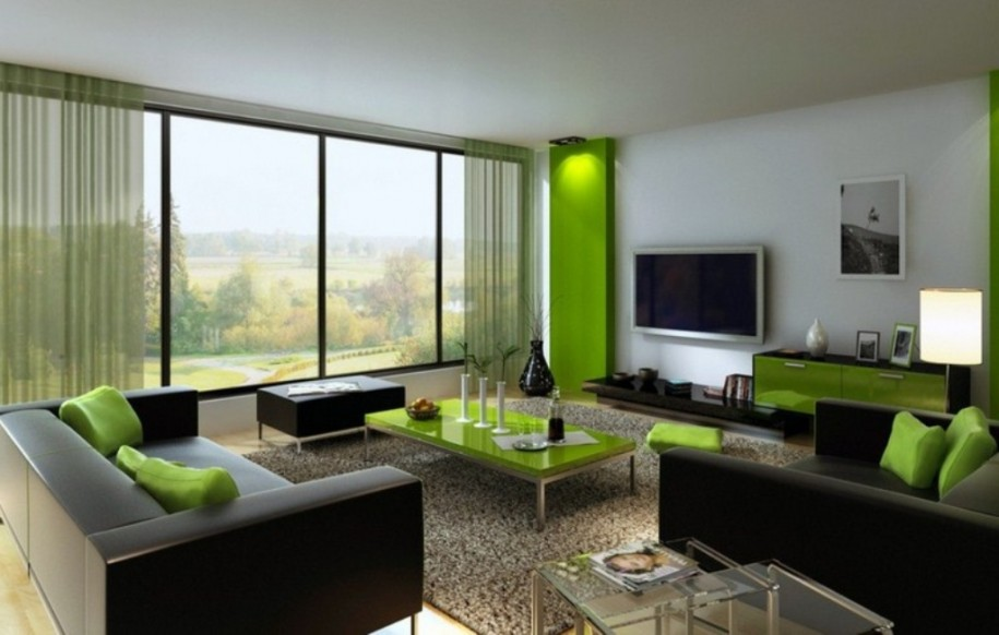 Green And Black Living Room 3 Hd Wallpaper ...